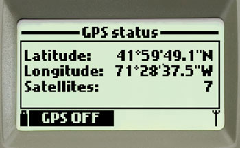 HI9829 Screen GPS Diagnostics.