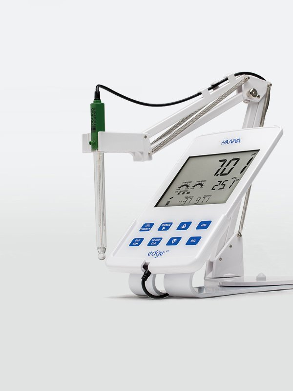Hanna's white edge tablet pH meter.