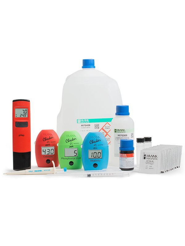 Professional reef test kit by Hanna Instruments.